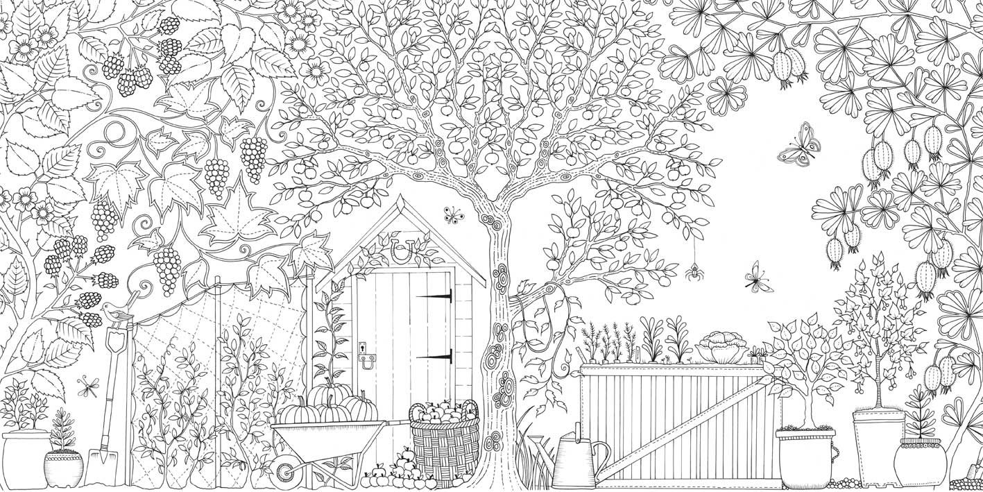 free printable secret garden coloring pages | Seivo - Image - free secret garden coloring pages - Seivo ...
