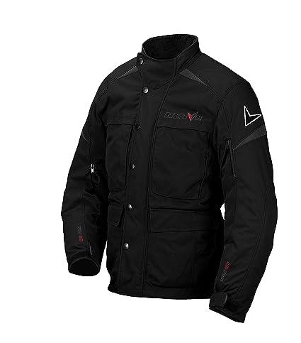 NERVE 1510120404_03  Bout Blouson de Moto, Noir, Taille M