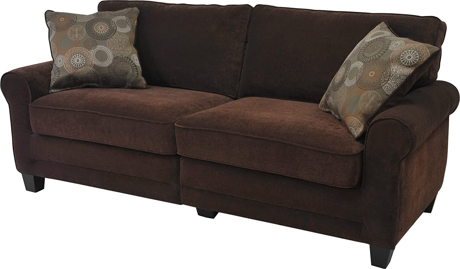 Serta® RTA Copenhagen Collection 78 Sofa in Rye Brown - CR43540PB