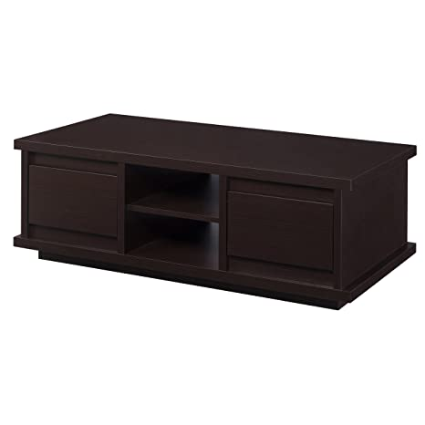Furniture of America Collin Modern Coffee Table with 2 Drawers, Walnut
