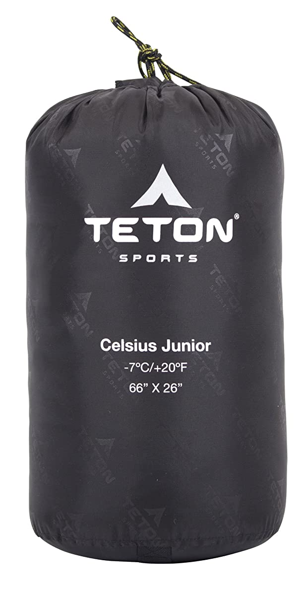 TETON Sports Celsius Junior for Kids -7C/+20F Sleeping Bag; Free Stuff Sack Included