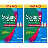 Systane Ultra Lubricant EfG Eye Drops, 0.33 F.l Oz. (10 mL) (4 Bottles Total)