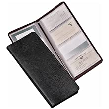 TOPS Cardinal Sewn Vinyl 96 Card File, Black, (34422)