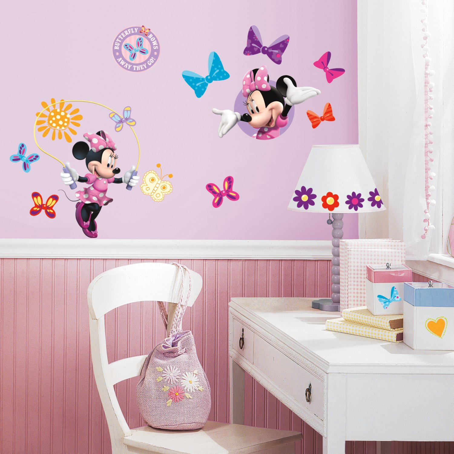 Roommates Rmk1666Scs Mickey & Friends - Minnie Bow-Tique Peel & Stick Wall Decals
