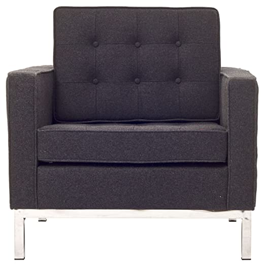 Loft Wool Armchair in Dark Gray