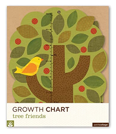 Petit Collage Folding Growth Chart, Tree Friends