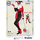 Simplicity US8434BB DC Comics Women's Harley Quinn Costume Sewing Pattern, Sizes 20W-28W