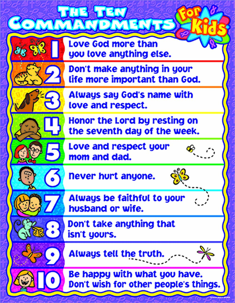 The gallery for --> Ten Commandments For Kids Poster