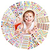 Coopay 1400+ 3D Puffy Stickers for Kids, 20 Different Sheets, Bulk Stickers for Girl Boy Birthday Gift, Scrapbooking, Teachers, Toddlers, Including Animals, Stars, Fishes, Hearts and More! (Color: Color 2)