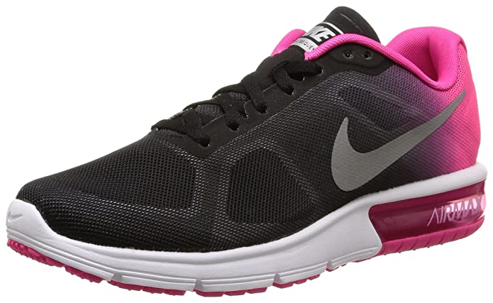 Nike Air Max Sequent Womens Running Shoes - Black And Pink