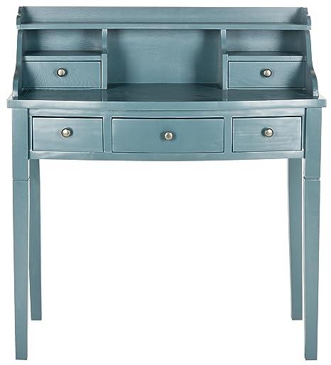 Safavieh Morgan scrivania, in legno, colore: blu oceano