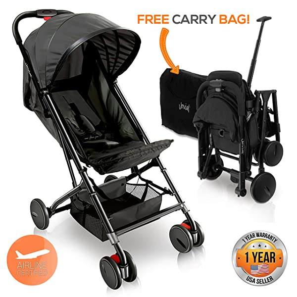 ZOEA Lightweight Stroller Travel Bag red Compatible with Gb Pockit Stroller and Gb Pockit Plus Lightweight Stroller