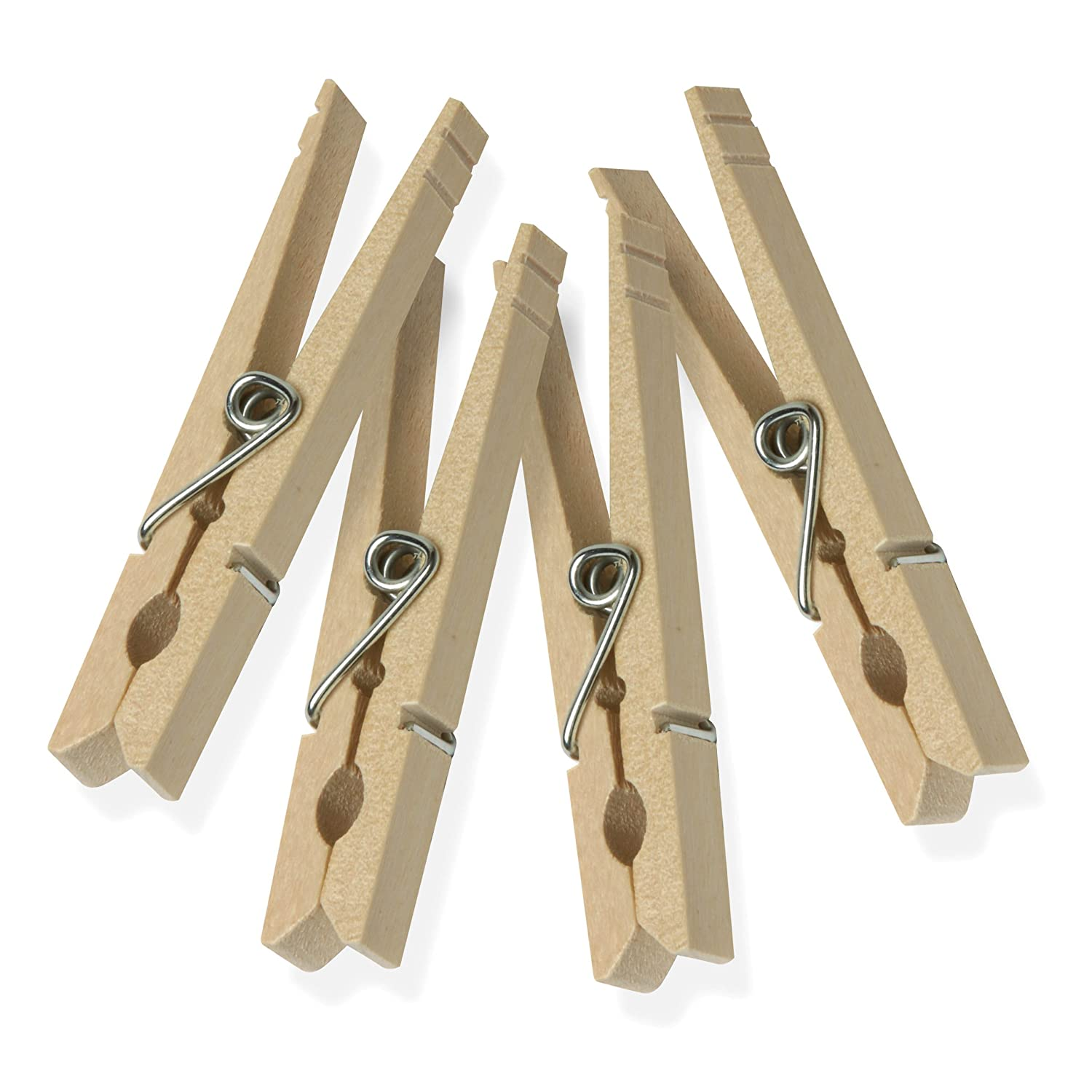 Image: Honey-Can-Do Clothes Pins Traditional Wood with Spring 50-Pack Wooden Clothespins - Love drying your clothes naturally!