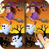 Halloween Find the Difference Game for Kids, Toddlers and Adults
