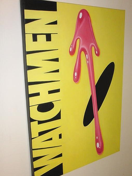 Watchmen de pintura al óleo 40 x 28 pulgada. Pintado a mano de arte, no es un Giclée, o Póster de cuadro. Este es un diseño de interpretación de esta la mayoría de los más importantes del mundo de có