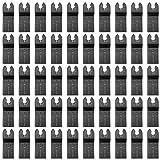 HOTBEST 50 Pack BI-Metal Oscillating Multitool Blades Universal Metal/Wood/Iron Nails Quick Release All Purpose Tool Saw Blades, Fits Dewalt,Porter Cable,Rockwell,Makita,Black & Decker Dremel etc. (Color: 50 pack, Tamaño: 50pcs)