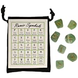 GREEN AVENTURINE - RUNES - Gemstone Elder Futhark 25 Runestones (Color: green)