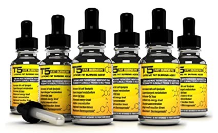 x6 Thermogenic T5 Fat Burners Serum : Advanced T5 / Phetermine Diet Pills Alternative (6 Month Supply)