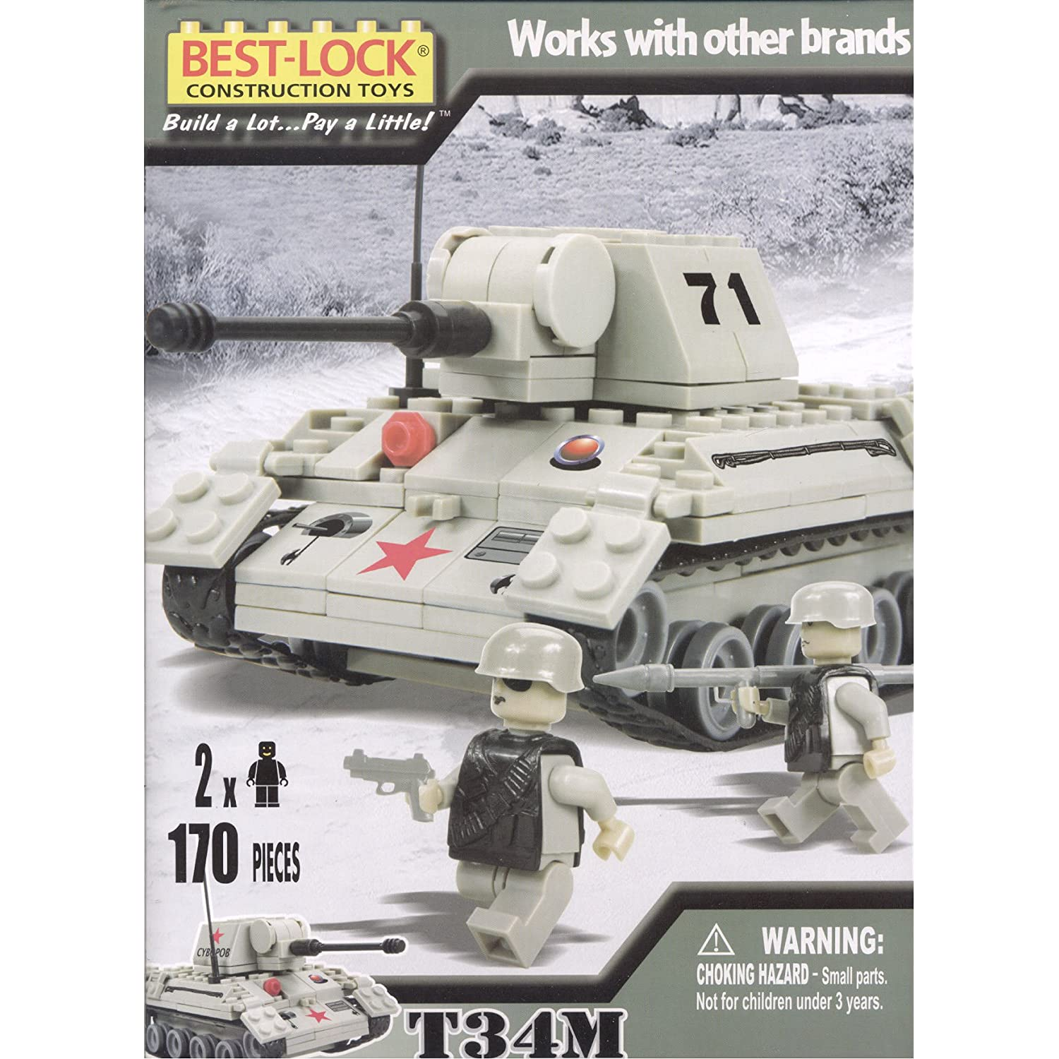 T34 lego tank? I did not know   - G503 Military Vehicle
