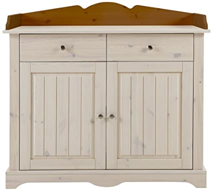 Steens Group 3308060264000F Provence Commode à Langer Bois Pin Massif Blanc/provence 71 x 99 x 107 cm