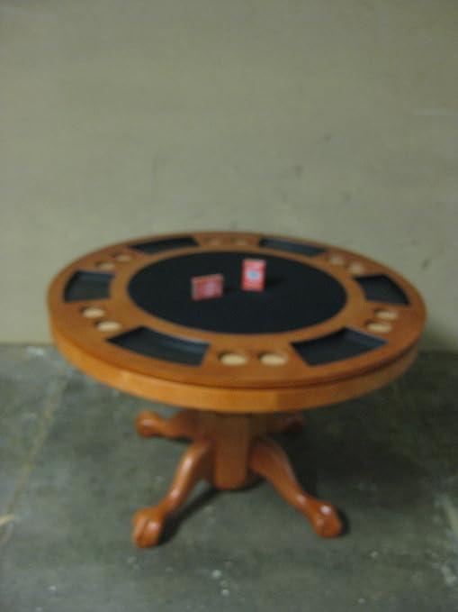 Kit-pokerspieltisch poker/table de salle à manger tout dans une table de billard bois breite120cm