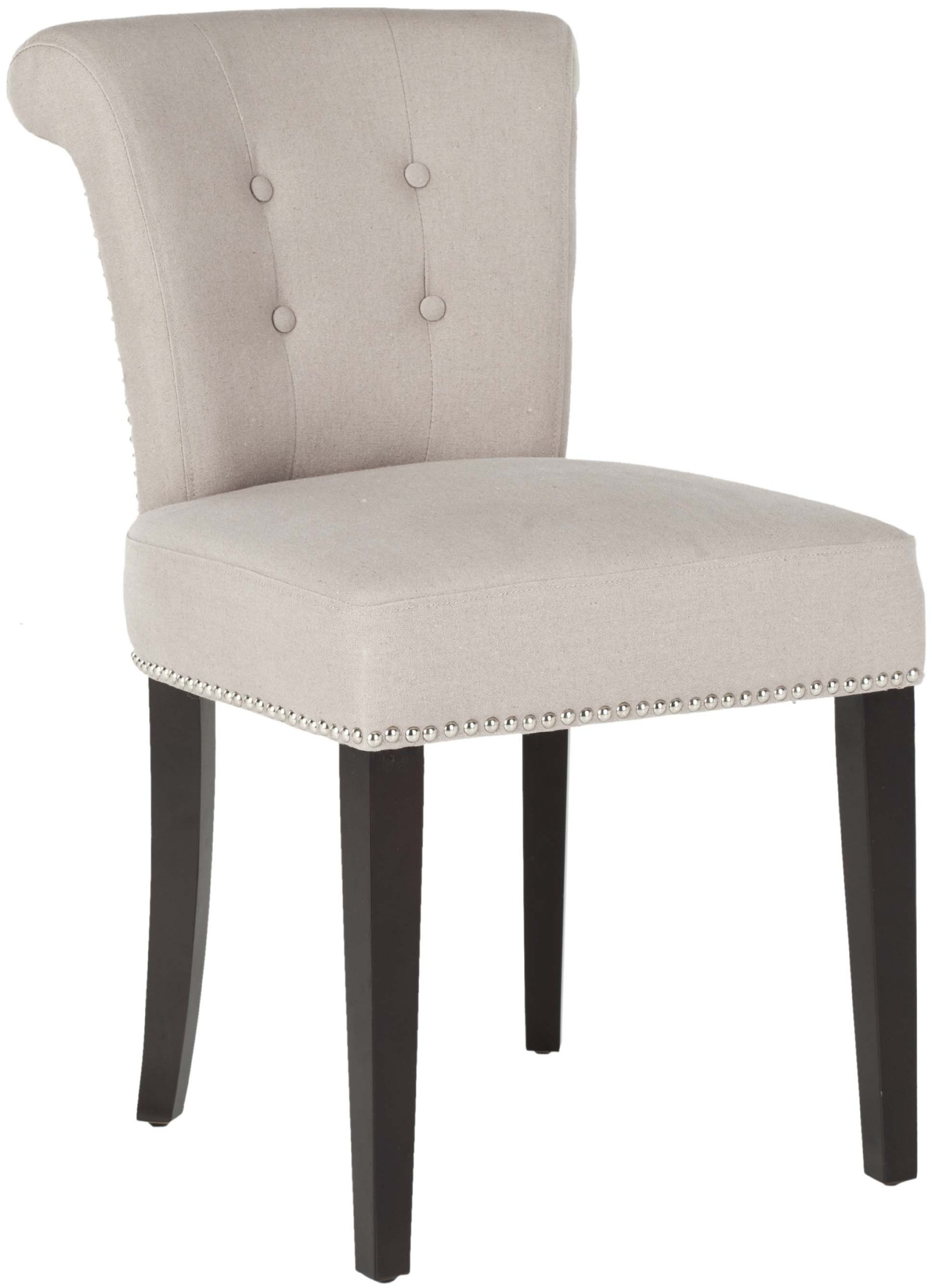 Safavieh Mercer Collection Carol Taupe Linen Ring Dining Chair
