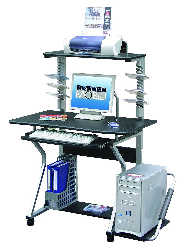 mobile computer laptop cart wheels pc work station desk stand portable printer ebay. Black Bedroom Furniture Sets. Home Design Ideas