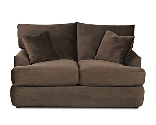 Klaussner FINDLEY Loveseat, Chocolate