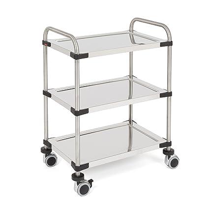 Rieber 72505038Servo Star 640RL Kitchen Trolley 3Shelves Flatpack Home