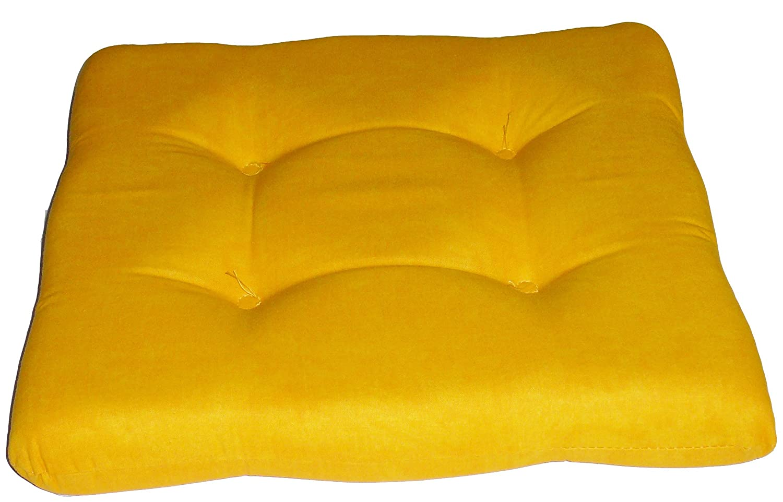 Gelb marmoriert Sitzkissen Weichschaum Kissen Stuhlkissen