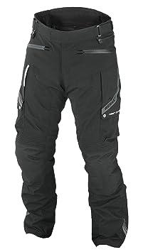 NERVE 1511071304_04 West Coast Pantalon de Moto Touring Textile, Noir, Taille : L