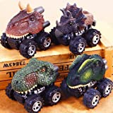 Hindom Dinosaur Model Mini Toy Car Back of the Car, Remote Control Car Pull Back Cars Electronic RC Car Big Tire Wheel Vehicles Playset Children's Birthday Christmas Gift Toy (Dilophosaurus) (Color: Dilophosaurus)