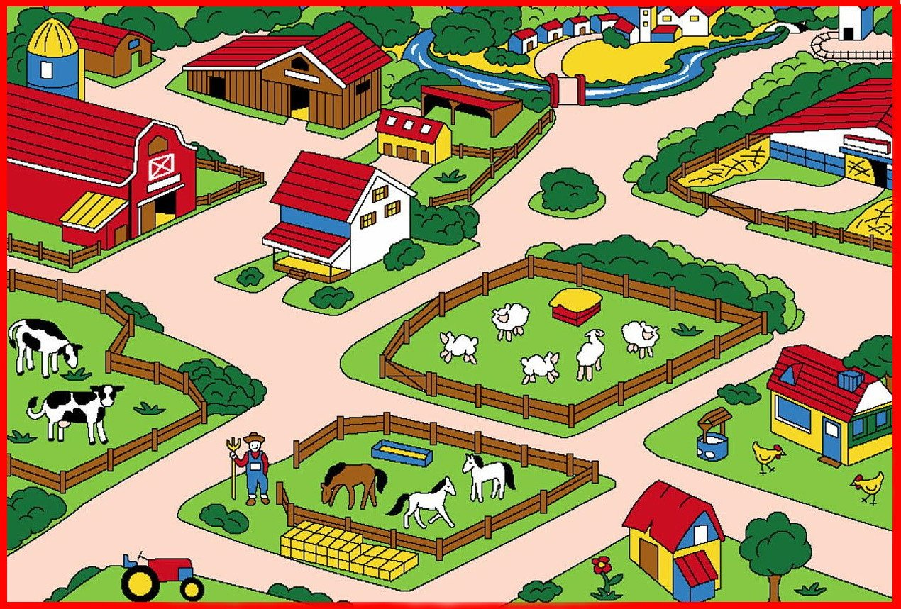 Farm Road Play Rug
