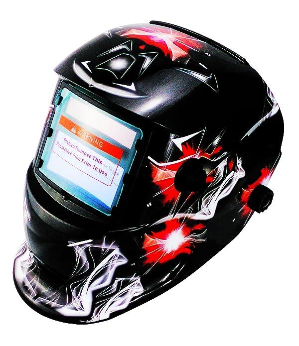 Li Battery+Solar Auto darkening welding helmet/face mask/Electric welder mask/cap for the welding machine (EF9040G, 12) (Color: 12, Tamaño: EF9040G)