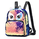 Backpack Purse for Women Owl Eye Decoration Sequin Mini Backpack Fashion Cute Backpack for Girls