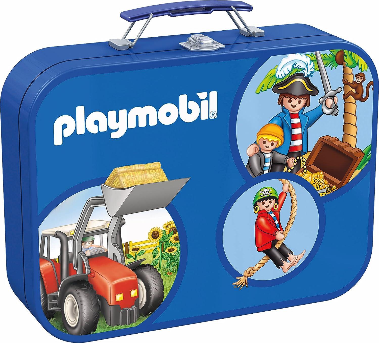 Schmidt Spiele 55599 – Playmobil, Puzzle-Box 2 x 60, 2 x 100 Teile im Metallkoffer kaufen