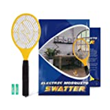 Zentouch Bug Zapper Electric Fly Swatter Mosquito Zapper against Flies,Bugs,Bees and Other Pest, Suitable for Indoor,Travel, Campings and Outdoor Occasions,Fly Killer with 2 AA Batteries Included (Color: Yellow, Tamaño: Medium)