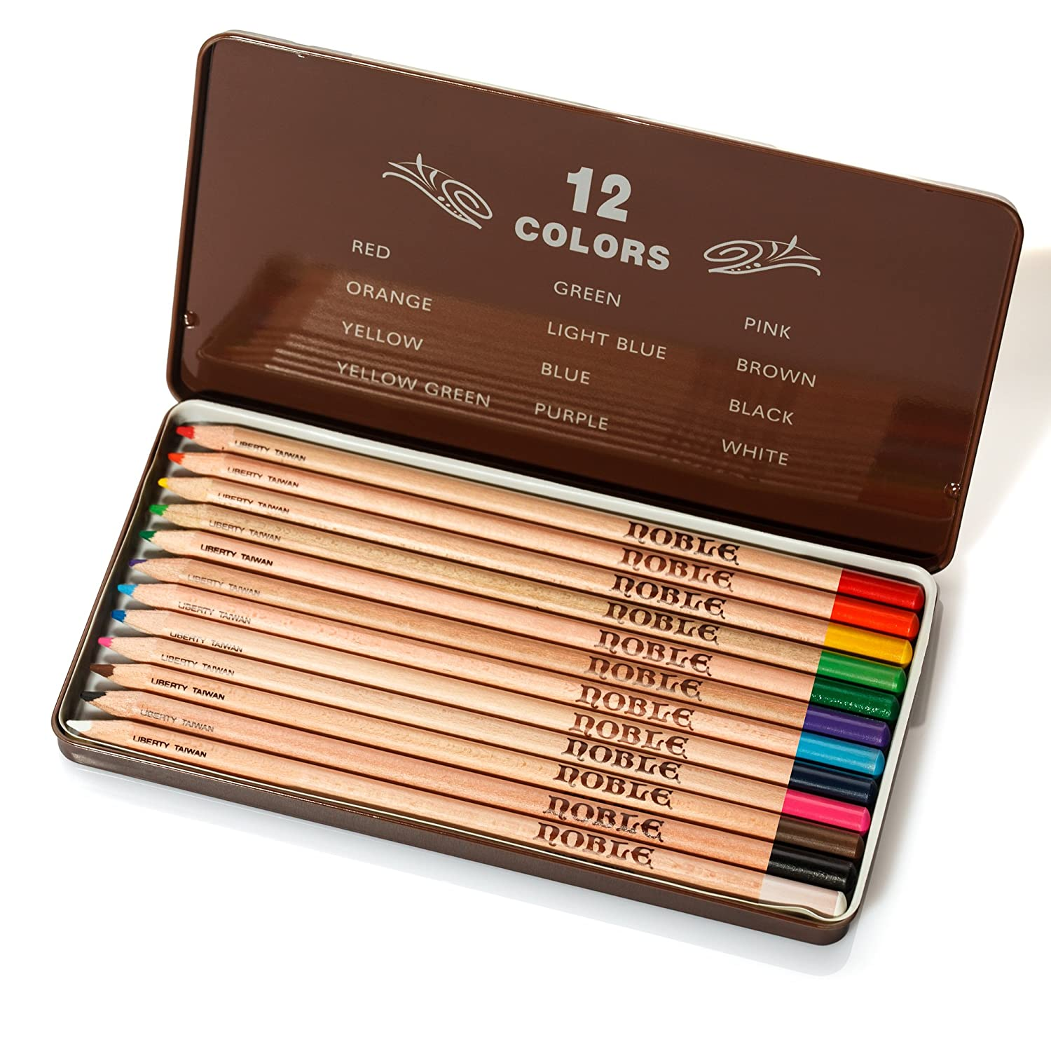 Liberty Bravo Premium Quality Colored Pencils Set of 12 Assorted Colors (CC-912YS)