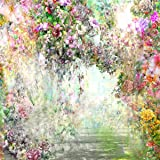 Kate 10x10ft Flowers Photography Backdrops Oil Painting Style Background for Princess Shooting (Color: 8272, Tamaño: 10x10ft)