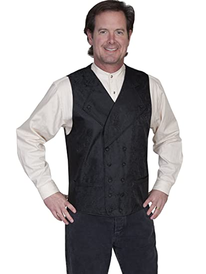 Men's Vintage Inspired Vests Wide Notched Lapel Vest  AT vintagedancer.com