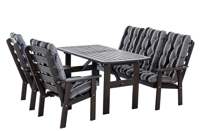 ambientehome 90316 7 teilig garten sitzgruppe essgruppe loungegruppe gartenm bel essgarnitur. Black Bedroom Furniture Sets. Home Design Ideas