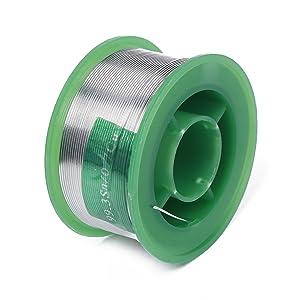 LeadFreeSolderWireSn99.3Cu0.7withRosinCoreforElectricalSoldering100g(0.6mm)byTAMINGTON