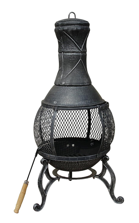 Bentley Terrassenofen – Feuerstelle mit offener Schale & Gitter – Schwarz/Bronze kaufen