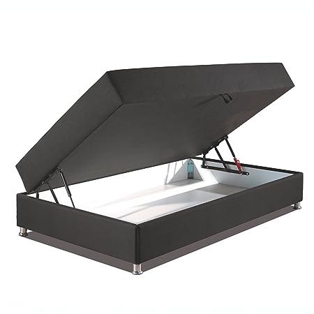 Betten-ABC® Schwarzwald Comfortbox-MINI Bonellfederkernmatratze + Bettkasten - Grösse 120x200