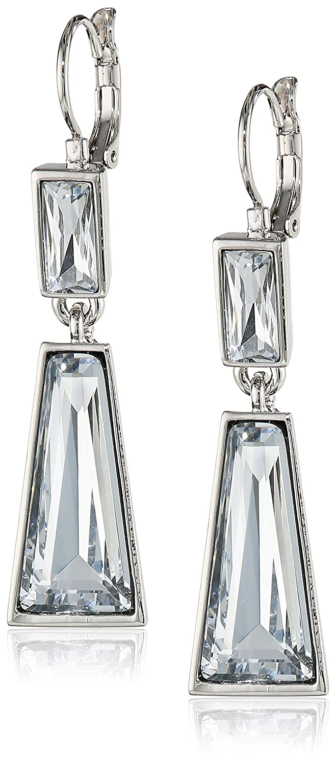 Vince Camuto Rhodium 2-Part Drop Earrings женское пальто vince camuto