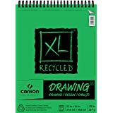 Canson XL Series Recycled Drawing Paper Pad, Top Wire Bound, 70 Pound, 11 x 14 Inch, 60 Sheets (Color: 0, Tamaño: 11