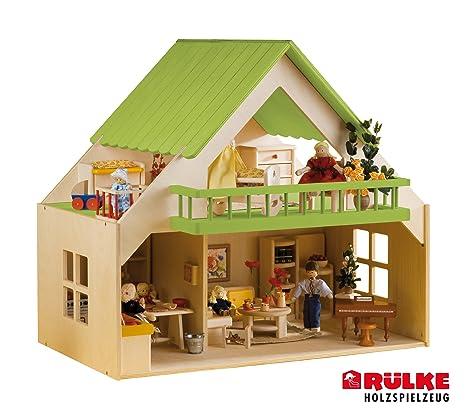 Rulke Holzspielzeug 23194 Maison de poupée avec balcon Rose