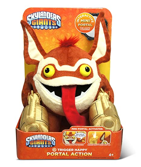 Skylanders Giants – Portal Action – Trigger Happy – Peluche Parlante 25 cm – Langue Anglais (Import UK)