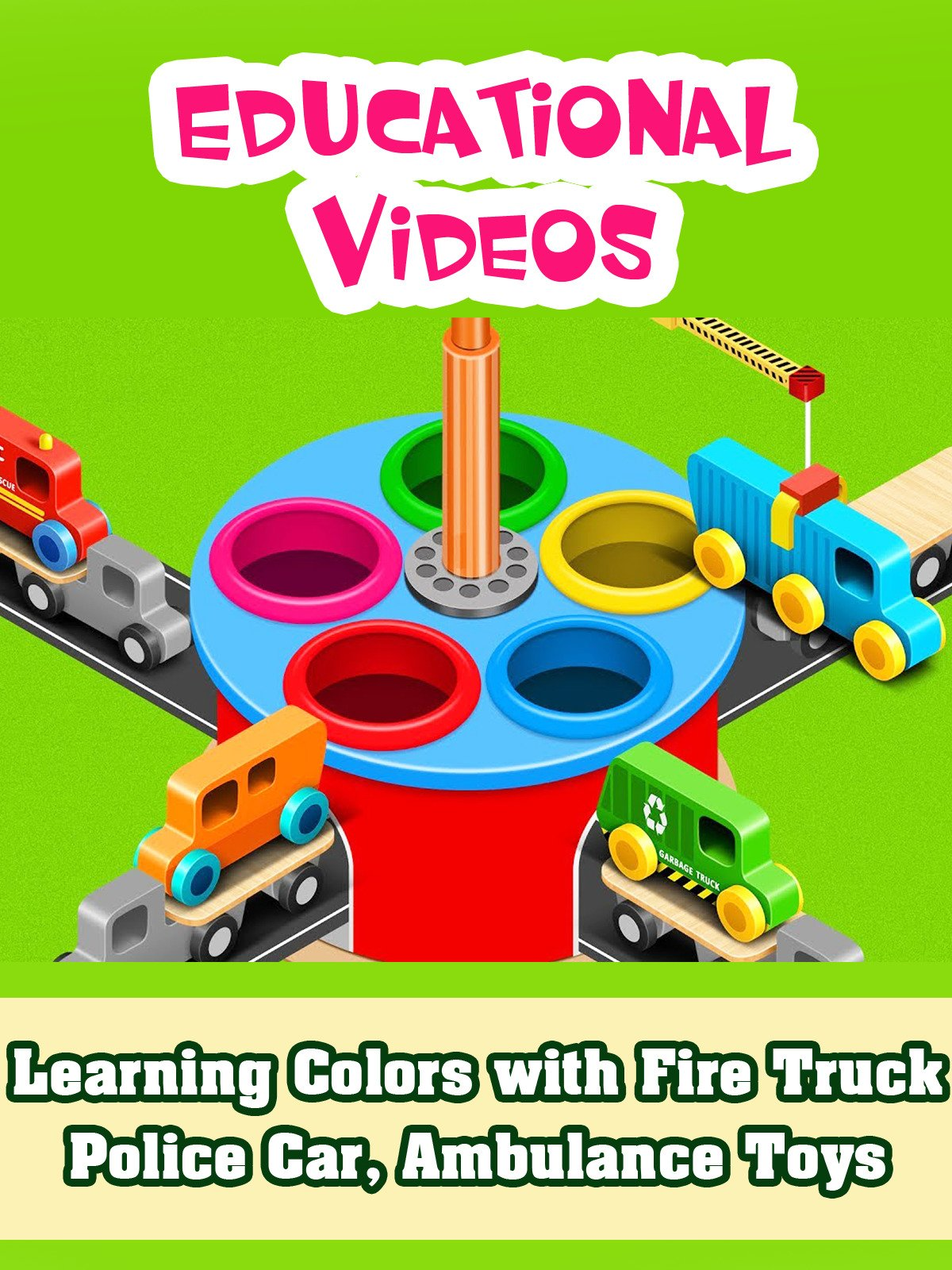 Learning Colors with Fire Truck, Police Car, Ambulance Toys