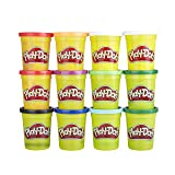 Play-Doh Bulk Winter Colors 12-Pack of Non-Toxic Modeling Compound, 4-Ounce Cans (Color: Winter Colors, Tamaño: 12 pack)